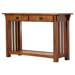 Mission Style Oak Sofa Table Red Corner Bed Uk Leick Impeccable Console And Reviews Wayfair