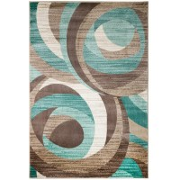 Rug and Decor Inc. Summit Teal Area Rug & Reviews | Wayfair