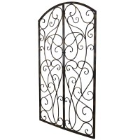 BayAccents Wrought Iron Scroll Panel Wall Dcor | Wayfair