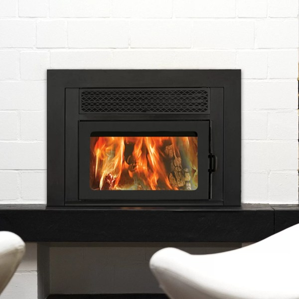 Supreme Fireplaces . Volcano Wall Mount Wood Burning Fireplace Insert &