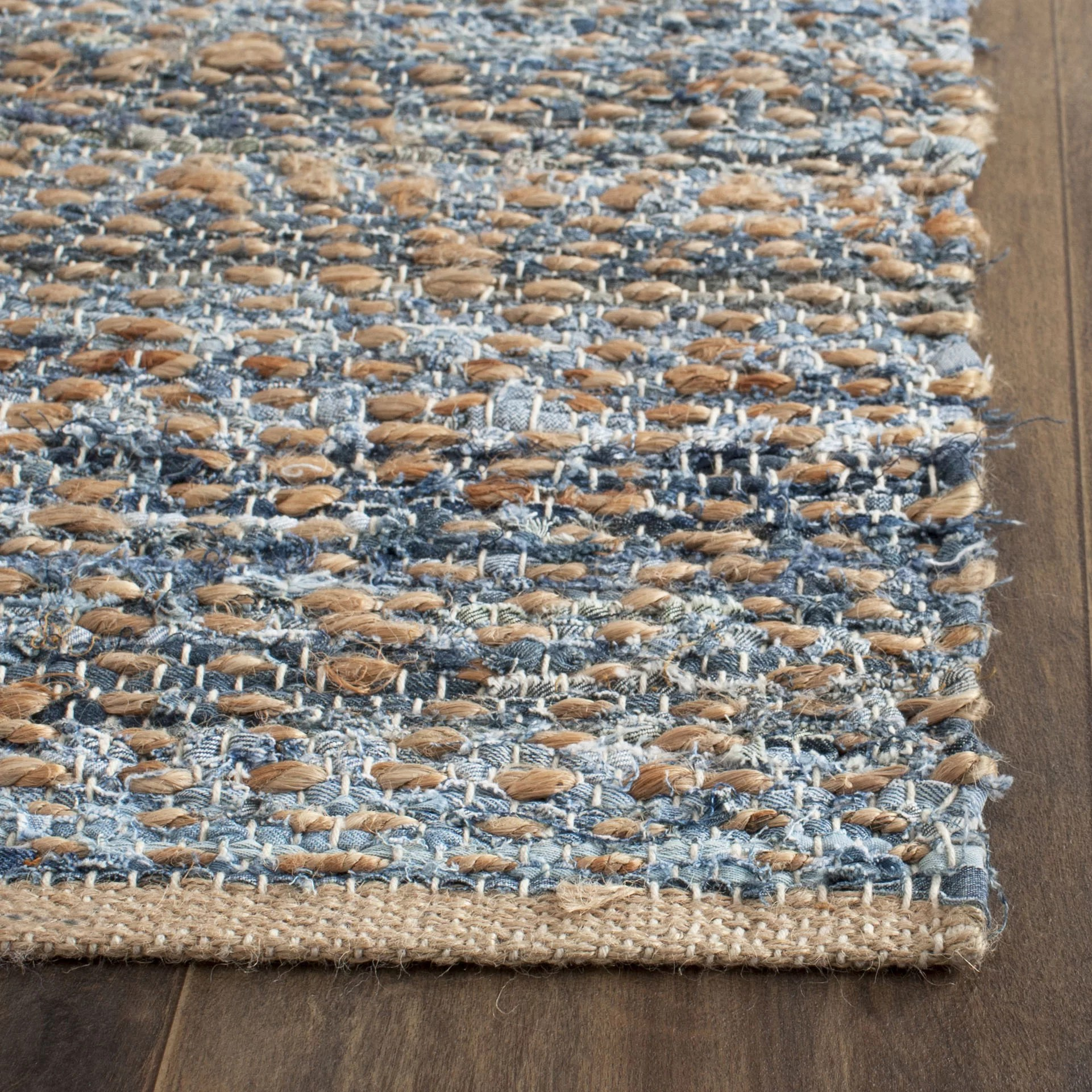 chicken kitchen rugs remodeling honolulu breakwater bay cromwell hand-woven natural/blue area rug ...