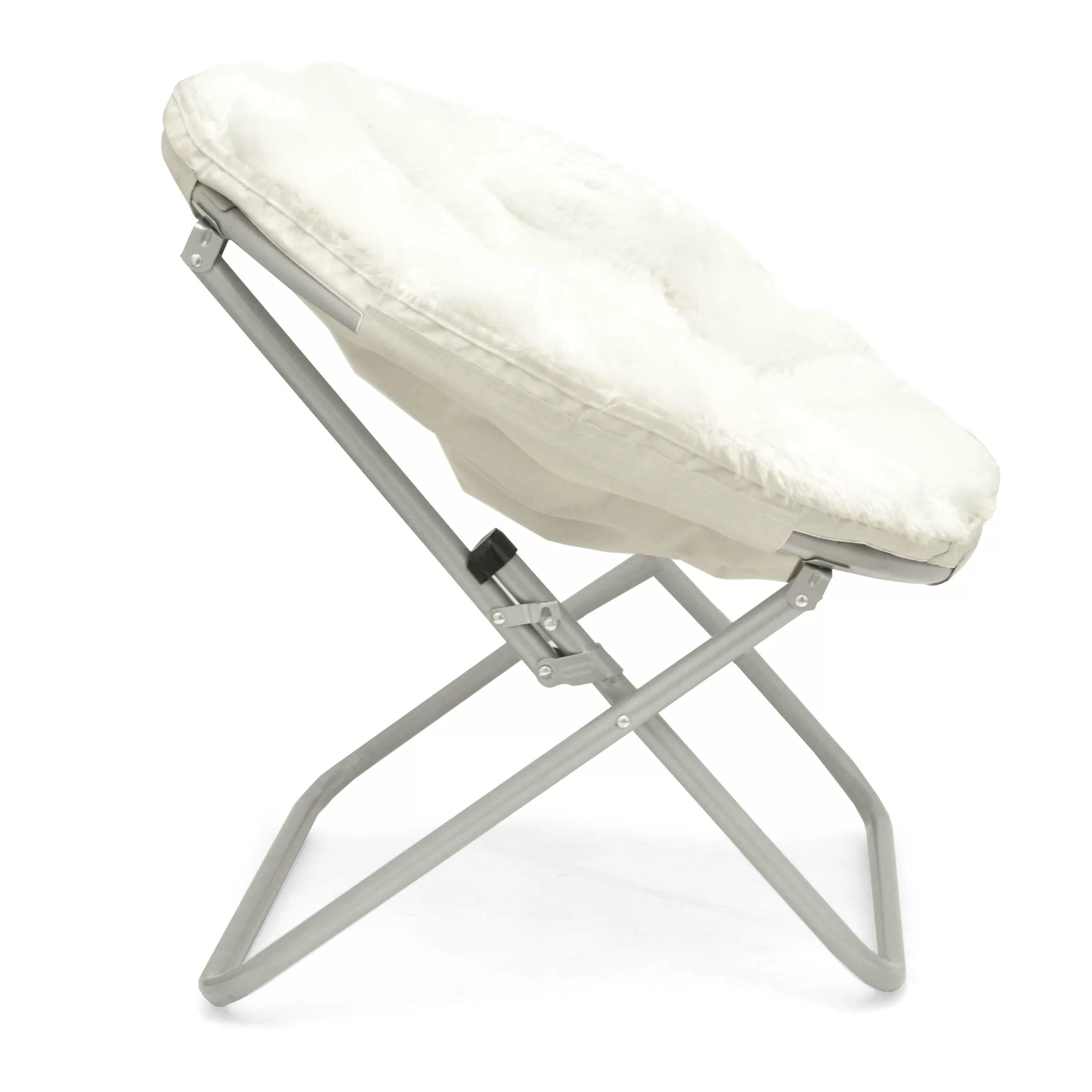 metal papasan chair reclining captains chairs urban shop mongolian fur and reviews wayfair