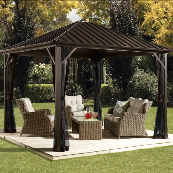 Sojag Dakota 10 Ft. X Metal Permanent Gazebo &