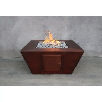 The Outdoor Plus Amer Copper Natural Gas Fire Pit Table ...