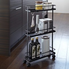 Rolling Kitchen Carts Restoration Yamazaki Usa Tower Storage Cart & Reviews ...