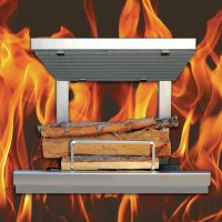 Earth's Flame Hybrid Clean Burn Wood Burning Fireplace ...