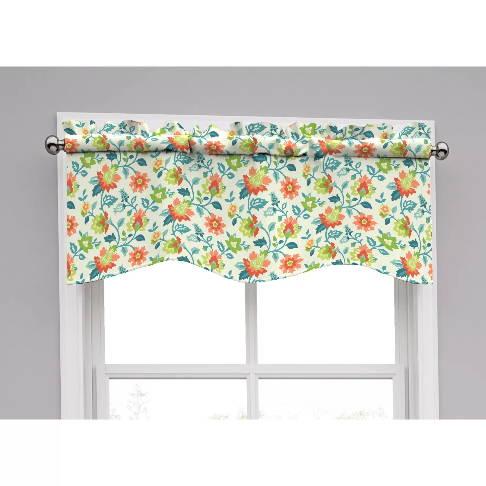 Traditions by Waverly Spring Floral Curtain Valance  Reviews  Wayfair