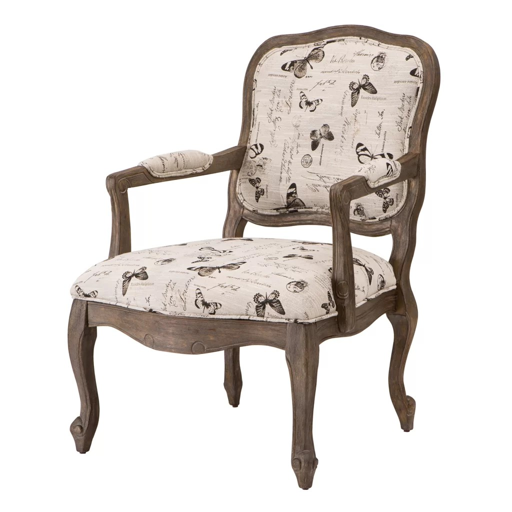 Wood Arm Chair Madison Park Monroe Camel Back Wood Arm Chair And Reviews