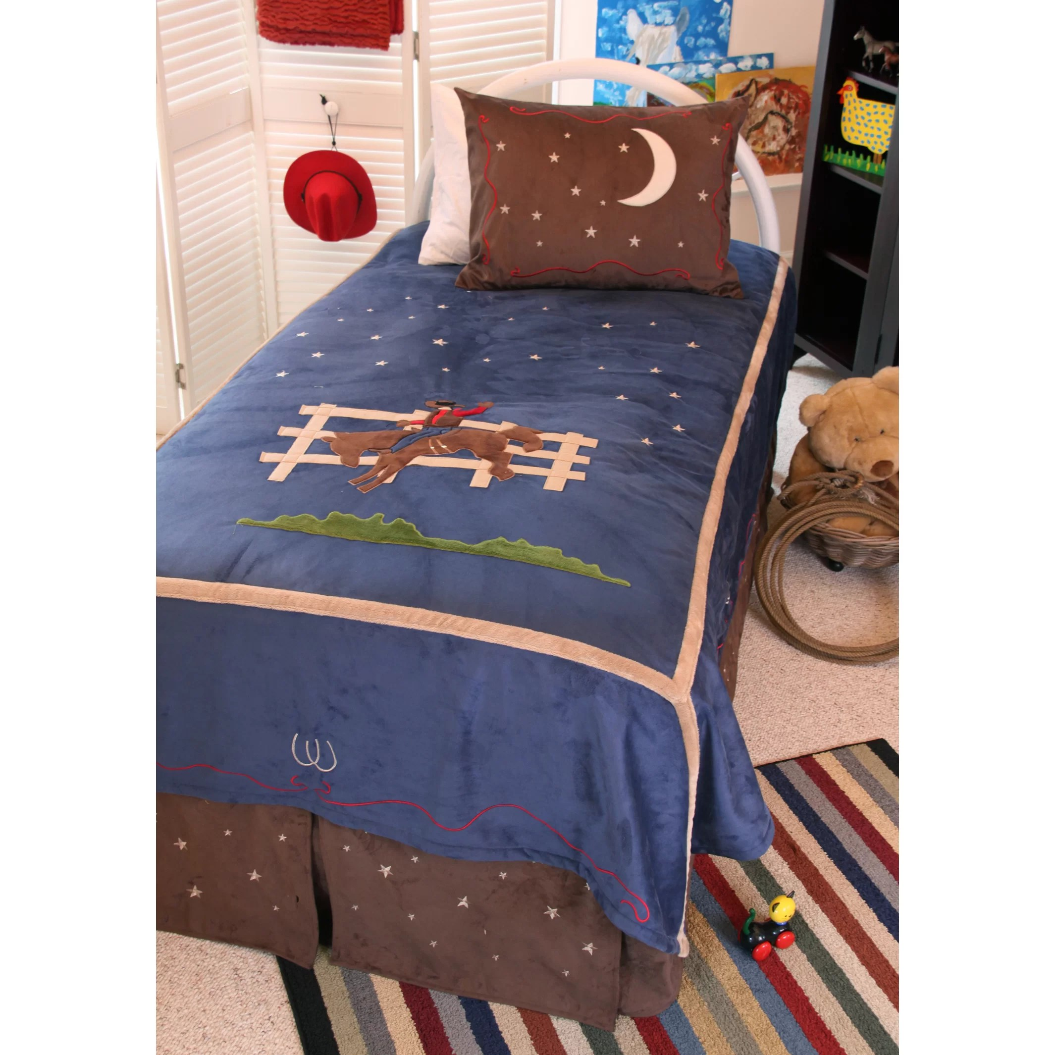 Carstens Inc Cowboy Kids Twin Bed In Bag Collection