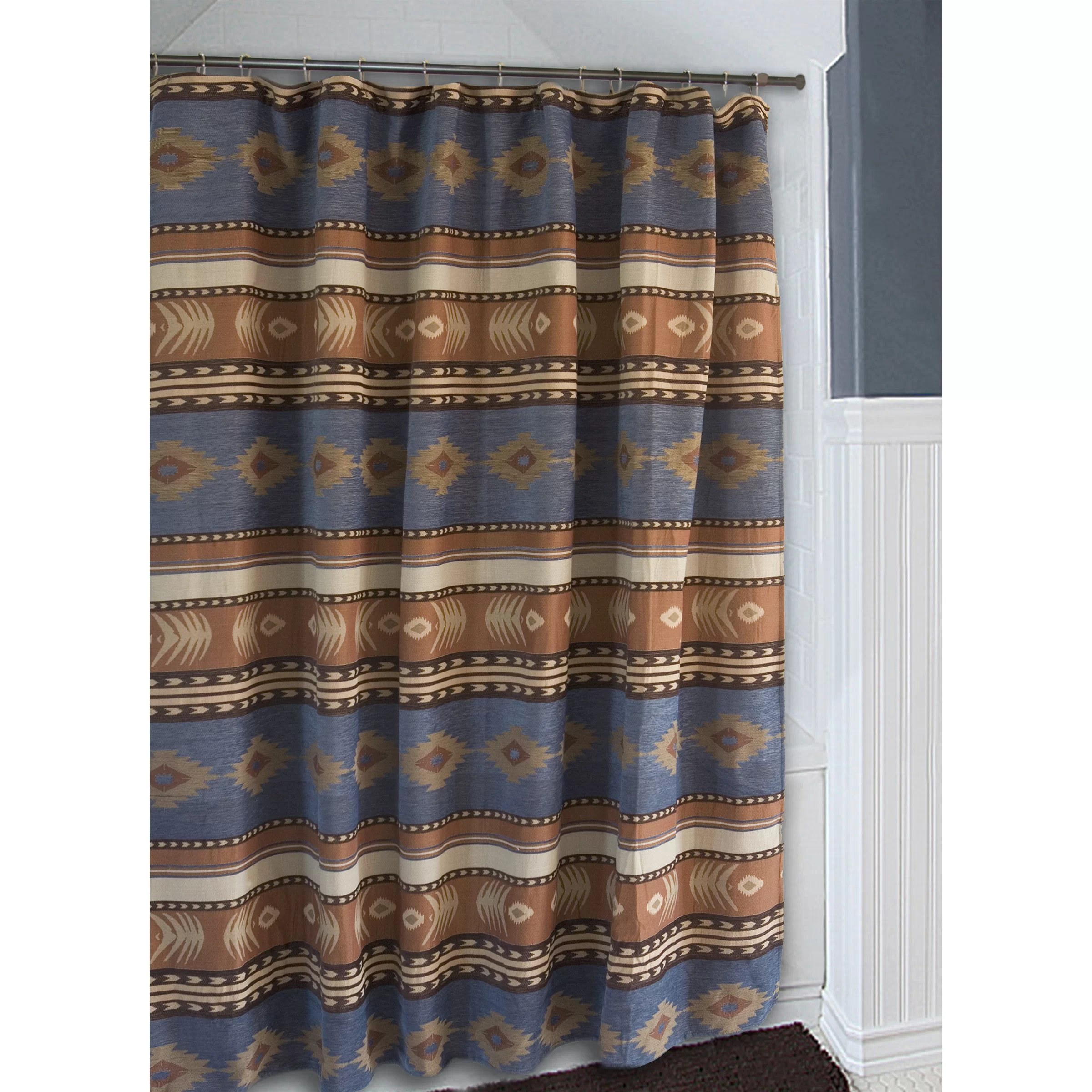 Carstens Inc Sierra Denim Blue and Brown Southwest