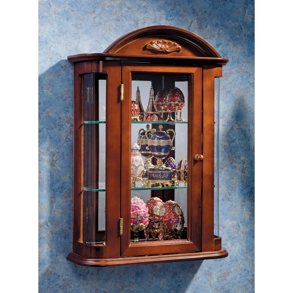 Rosalind Wheeler Martinson Wall Curio Cabinet  Reviews