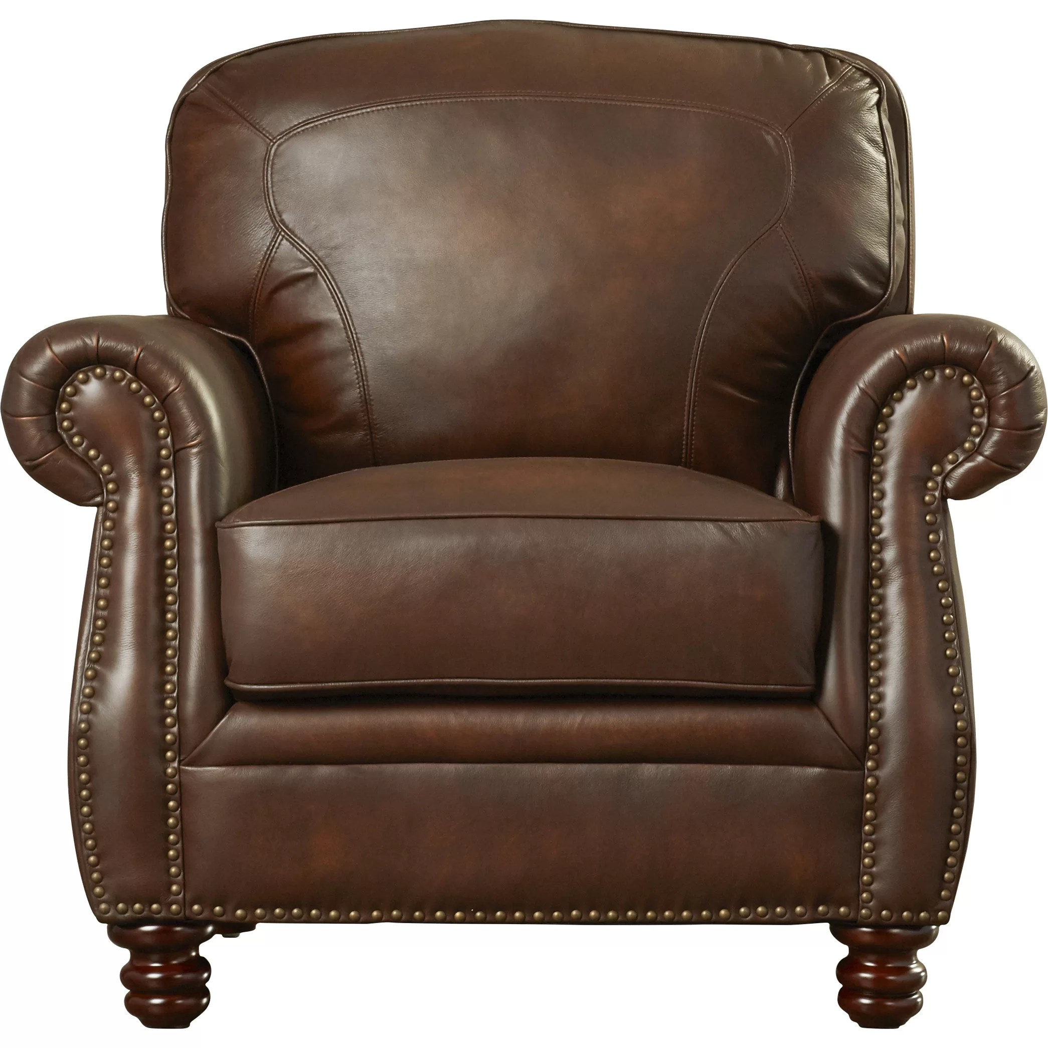 Rosalind Wheeler Mcdonnell Leather Club Chair & Reviews