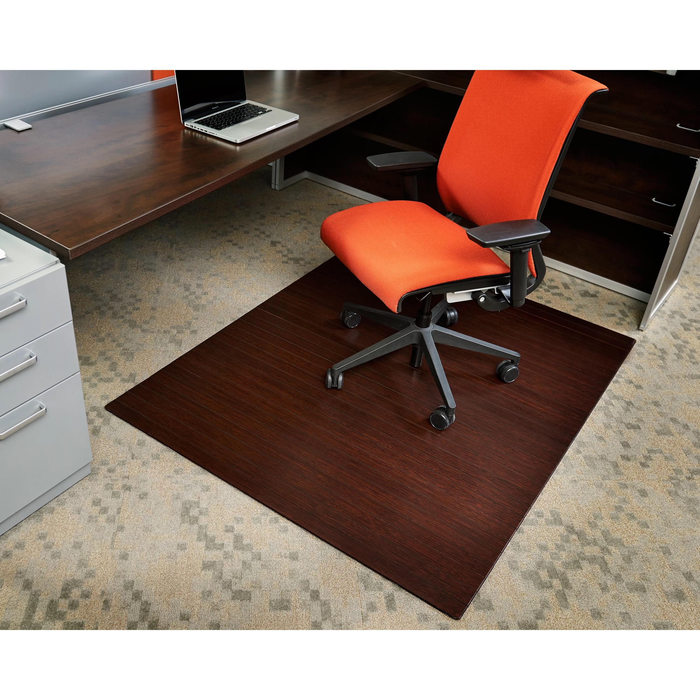 Symple Stuff Bamboo Rectangular Office Chair Mat  Reviews