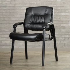 Brown Office Guest Chairs Bedroom Pod Chair Symple Stuff Leather Blend And Reviews Wayfair