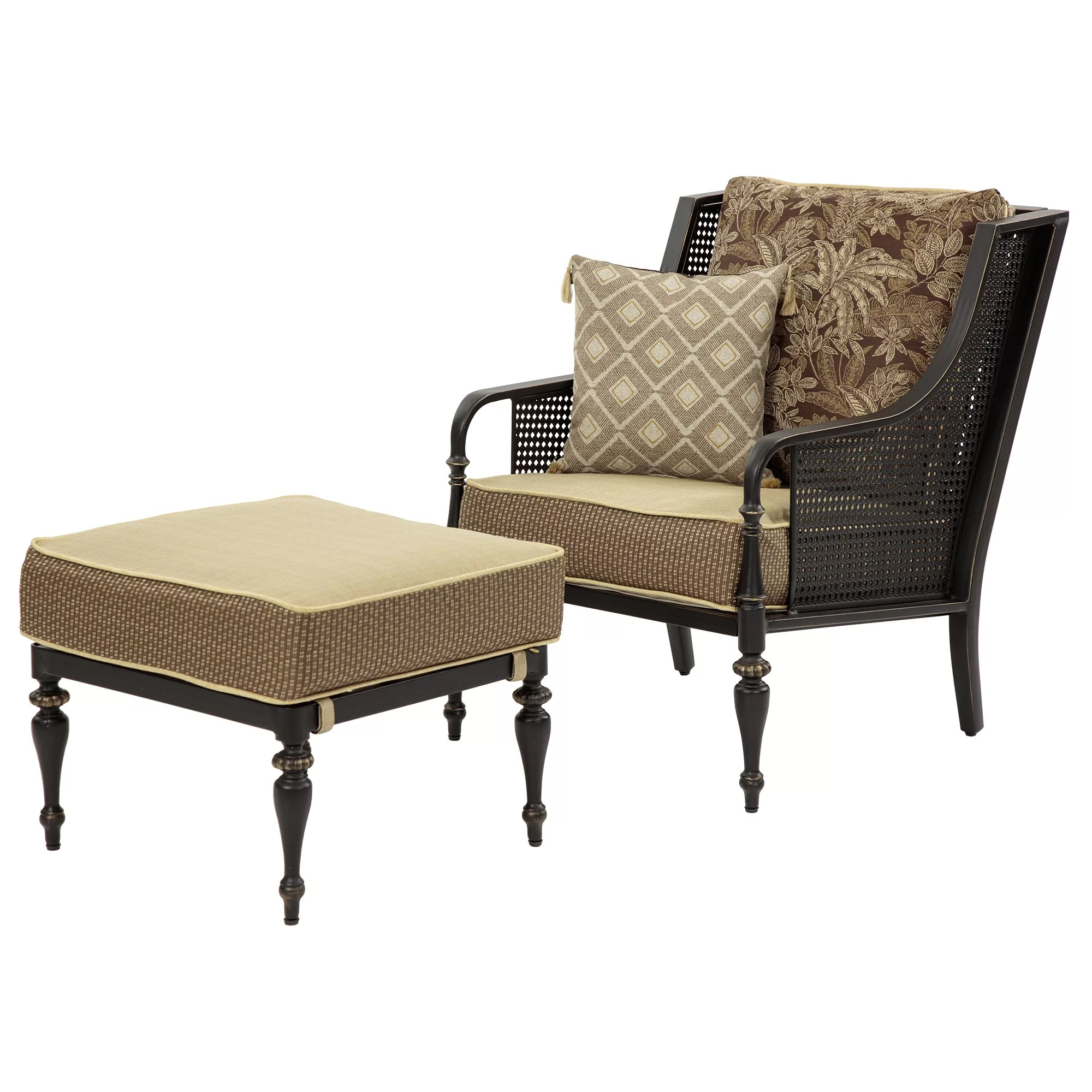 Chair And Ottoman Bombayoutdoors Sherborne Arm Chair And Ottoman And Reviews