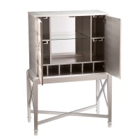 Mercer41 Ritchie Bar Cabinet with Wine Storage & Reviews ...