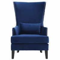 Mercer41 Bernadine Velvet Tall Arm Chair & Reviews | Wayfair