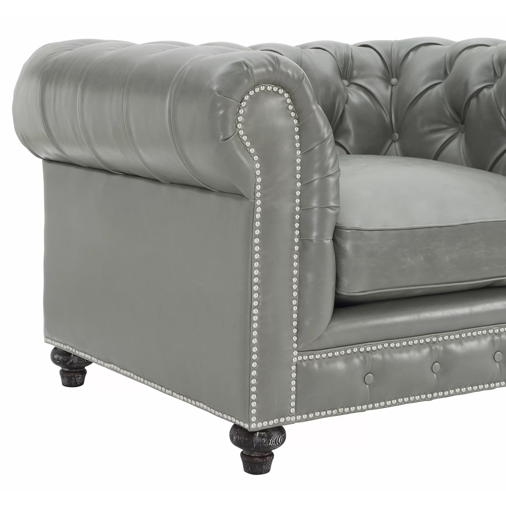 Mercer41 Bustam Leather Club Chair