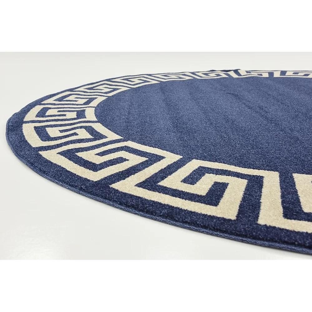 Mercer41 Gedrie Navy Blue Area Rug  Reviews  Wayfair