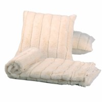 BOON Throw & Blanket Luxury Rabbit Faux Fur Throw and ...