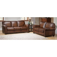 Sofa And Loveseat Set Up Flexsteel Sectional Amax Aspen Leather Wayfair