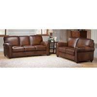 Amax Aspen Leather Sofa and Loveseat Set | Wayfair