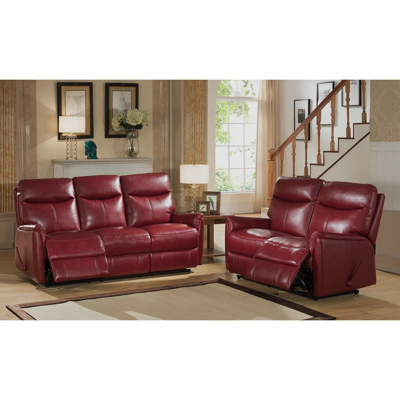 sofa and loveseat set up rowe sofas sectionals amax napa top grain leather lay flat reclining