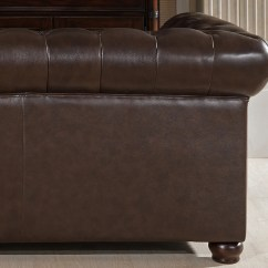 Kensington Leather Chair Ergonomic Grainger Amax Top Grain Chesterfield Sofa And