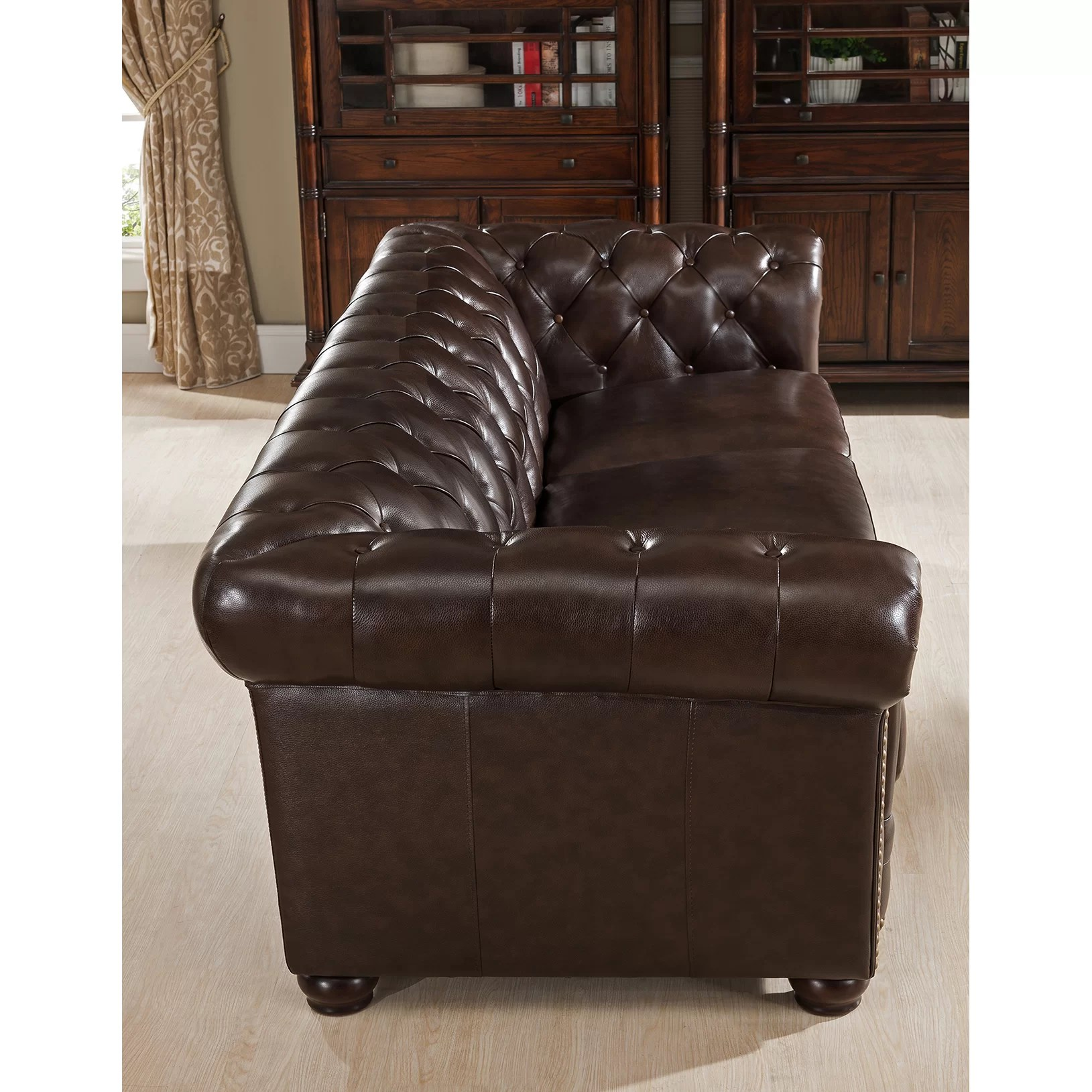kensington leather chair folding and table set amax top grain chesterfield sofa