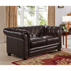 Kensington Leather Chair Navy Blue Club Amax Top Grain Chesterfield Sofa