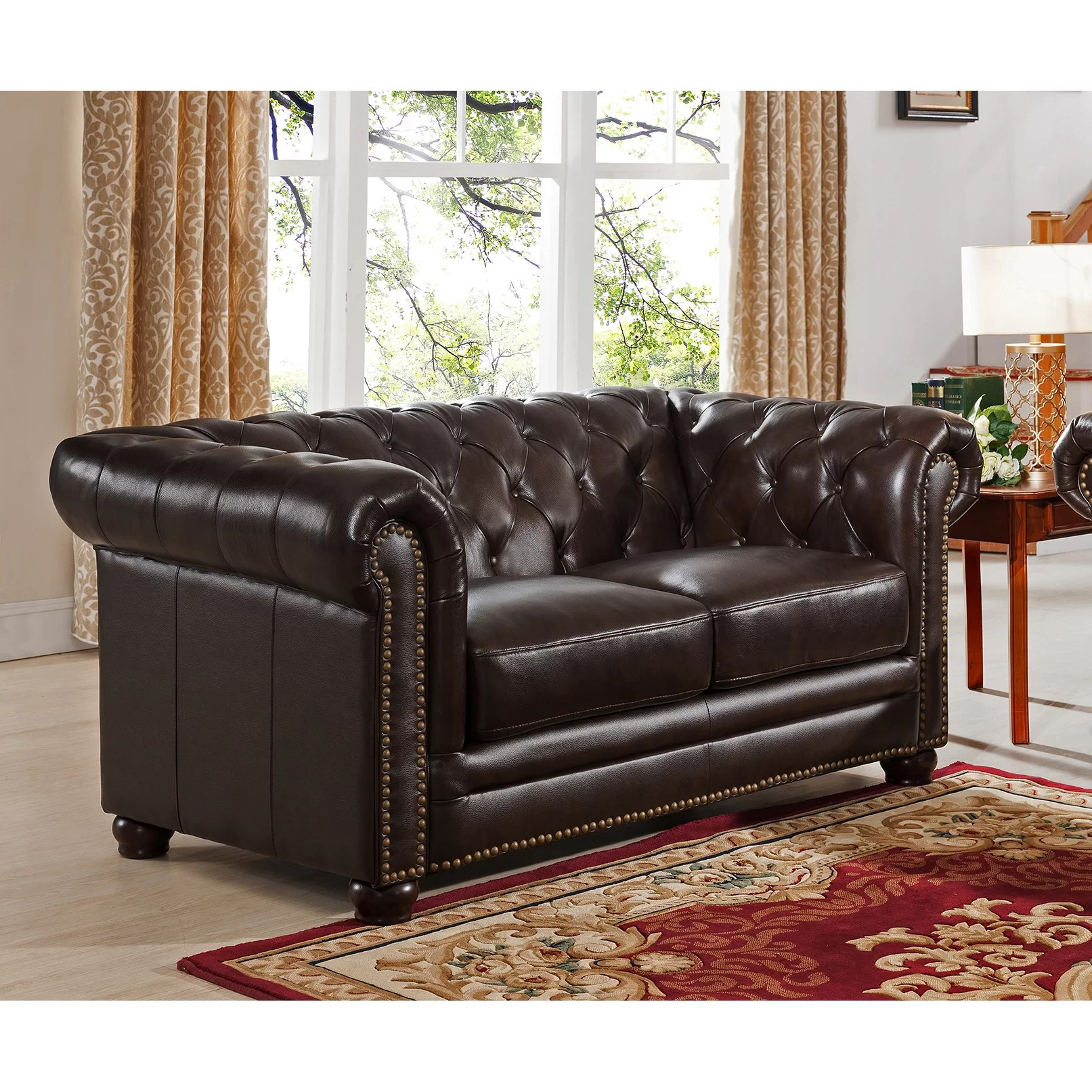 Leather Chesterfield Chair Amax Kensington Top Grain Leather Chesterfield Sofa