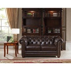 Kensington Leather Chair Exercise Up Amax Top Grain Chesterfield Sofa