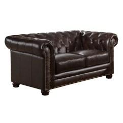 Pee Kensington Leather Sofa Kanes Amax Top Grain Chesterfield