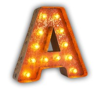 Vintage Marquee Lights Letter Wall Decor & Reviews   Wayfair