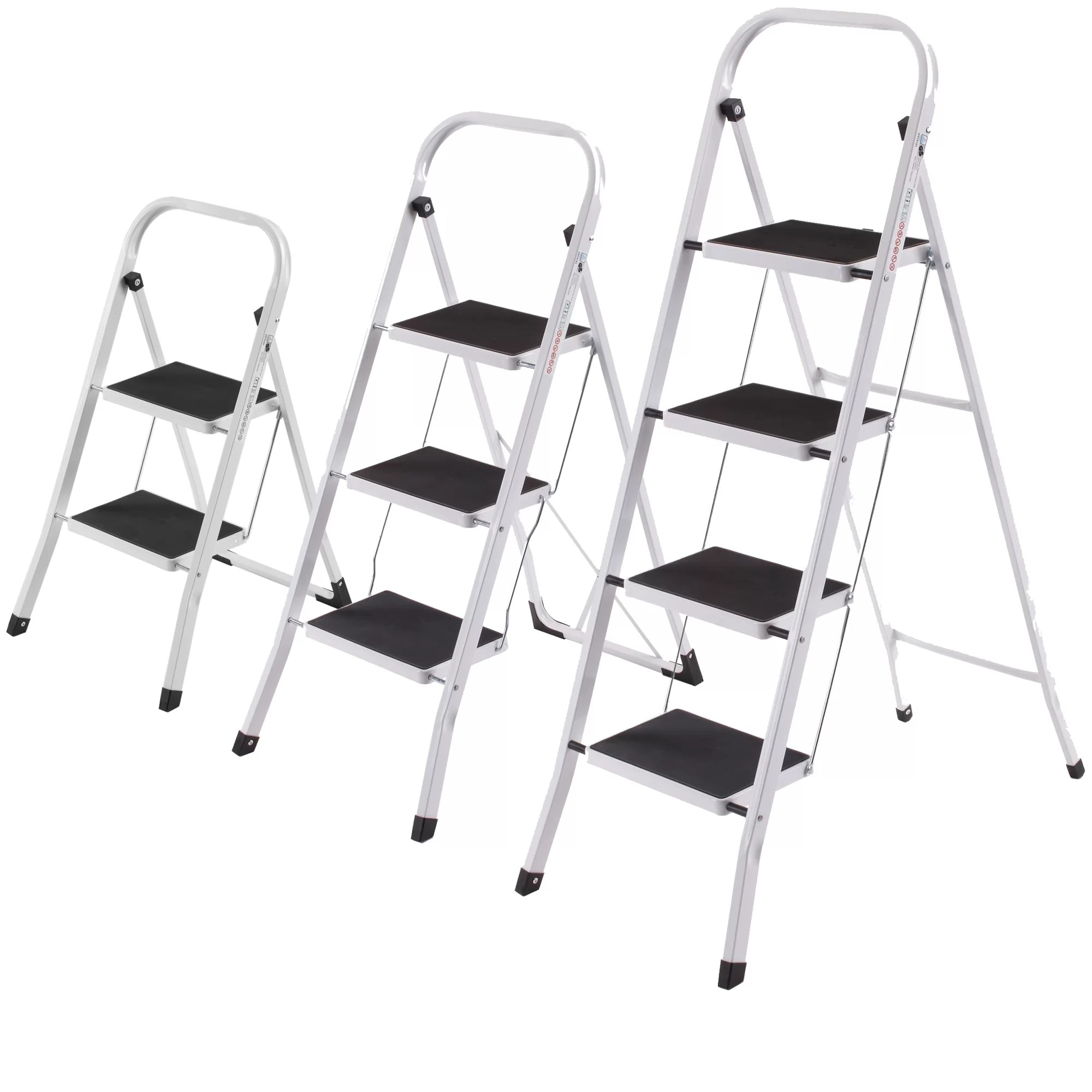 office chair 300 lb capacity lounge lizard vonhaus 2 step steel stool load