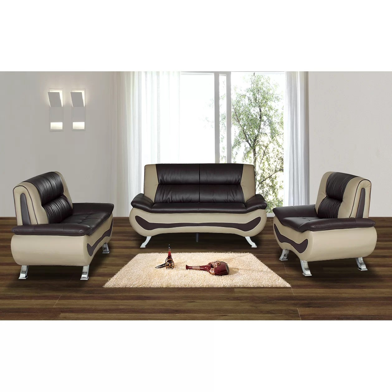 Living In Style Austin 3 Piece Living Room Set  Reviews