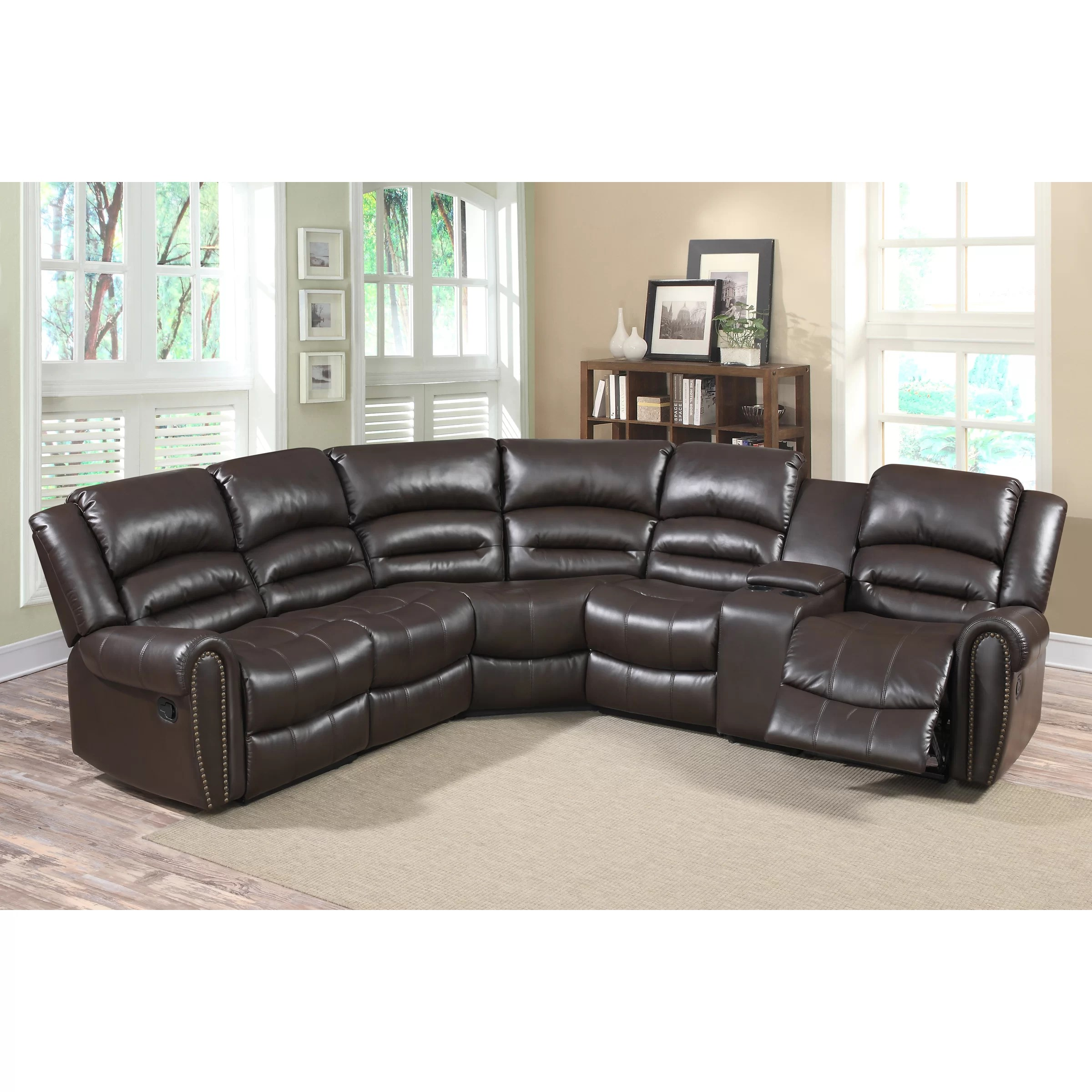 tosh furniture dark brown sofa set scs leather sofas and chairs living in style bingham sectional reviews wayfair