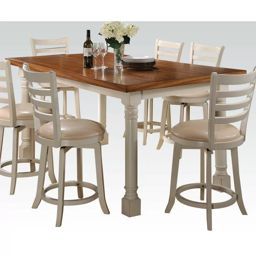 Hokku Designs Nappa 7 Piece Counter Height Dining Set amp
