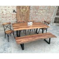 Urban Furnishings Rustic 6 Piece Dining Set | Wayfair