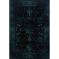 The Conestoga Trading Co. Renaissance Black/Teal Area Rug