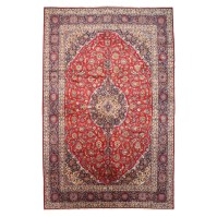 Meridian Rugmakers Hand-Knotted Red Area Rug | Wayfair.ca