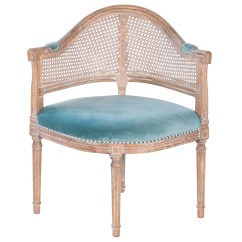 Cane Barrel Chair Mesh Office With Headrest Joseph Allen Fae French Antique And Velvet