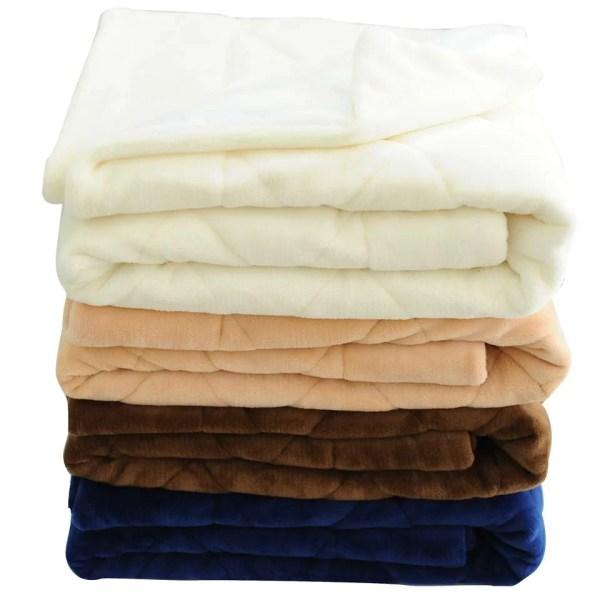 Velvet Quilted Throw Blanket