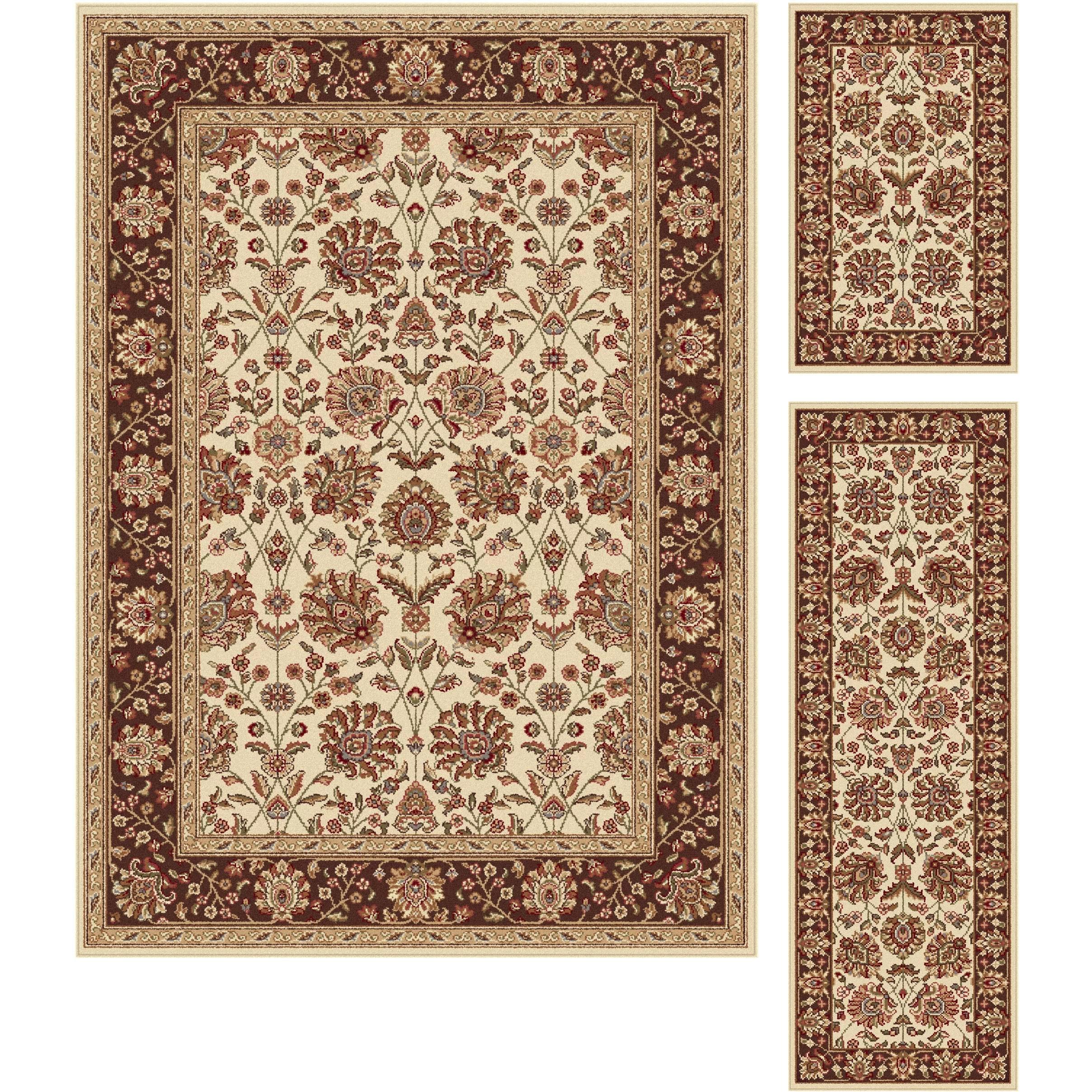 3 piece kitchen rug set menards backsplash threadbind litchford beige area and reviews