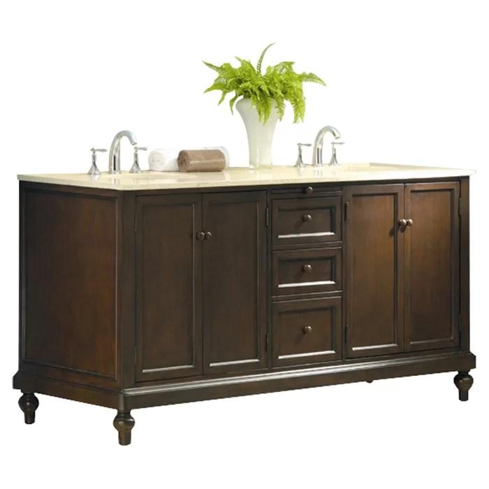 Direct Vanity Sink Classic 70 Double Bathroom Vanity Set