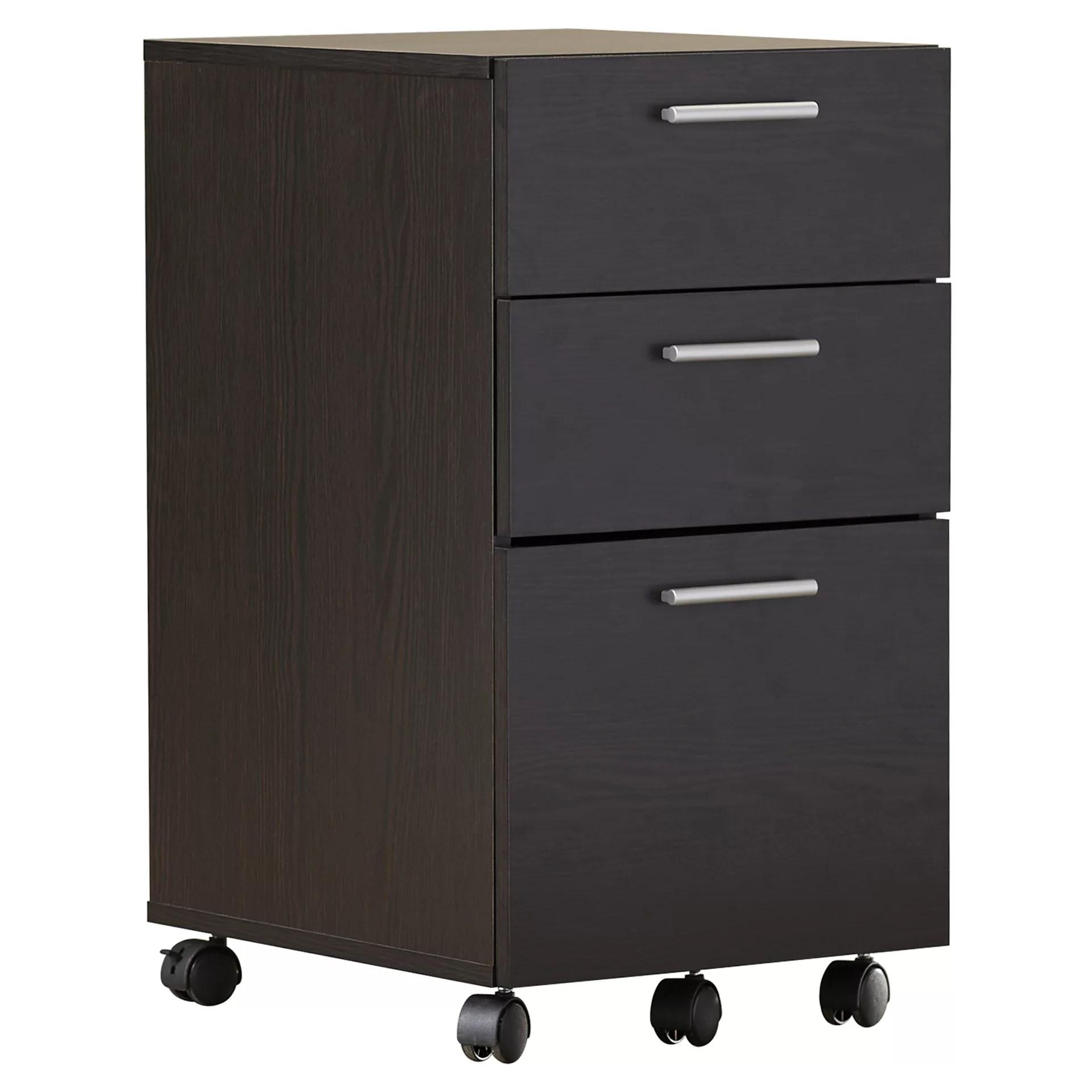 Latitude Run Magdalena 3 Drawer Mobile Filing Cabinet