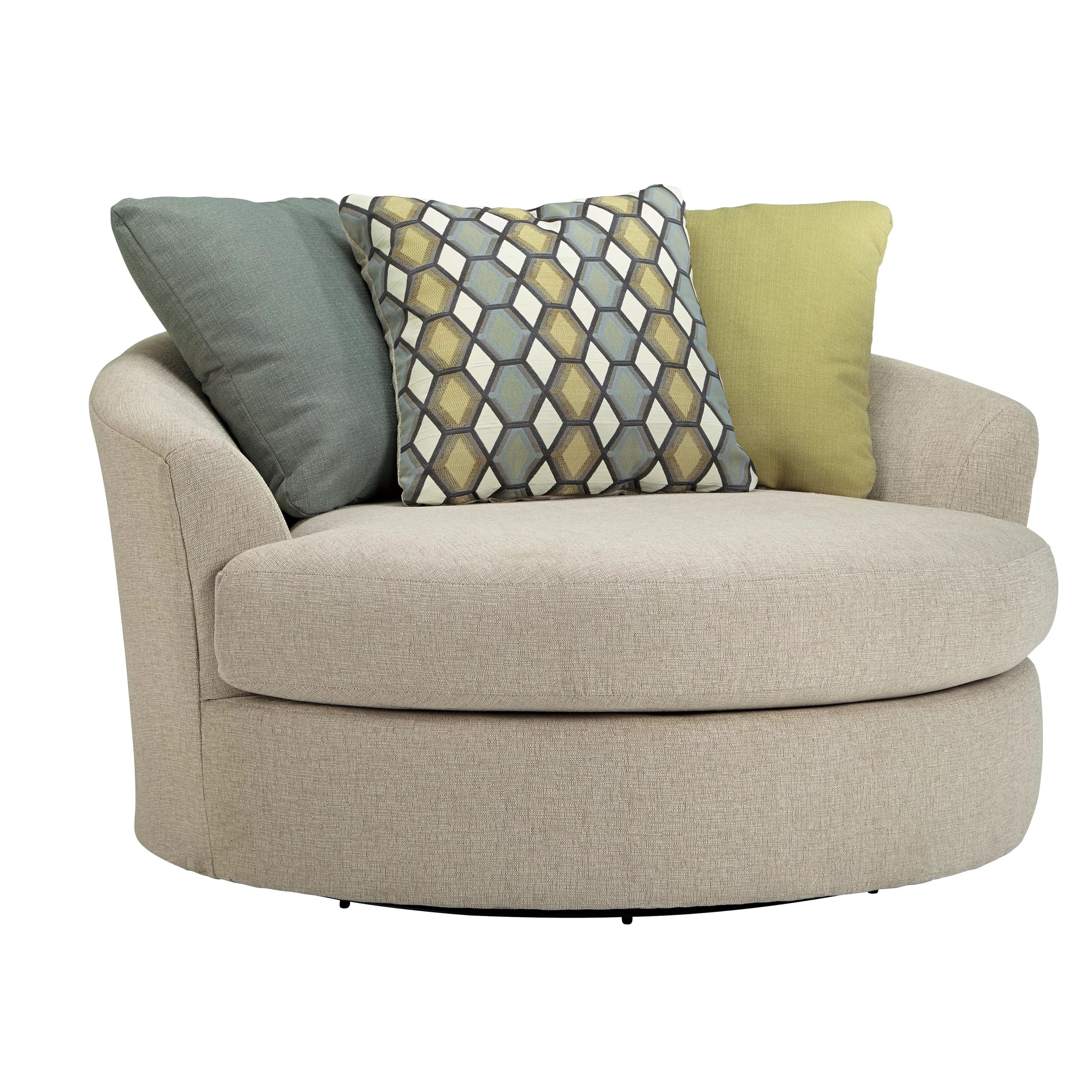 Barrel Chair Swivel Latitude Run Bradfield Oversized Swivel Barrel Chair