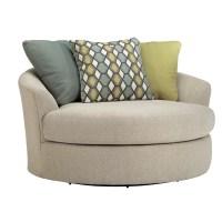 Latitude Run Bradfield Oversized Swivel Barrel Chair ...
