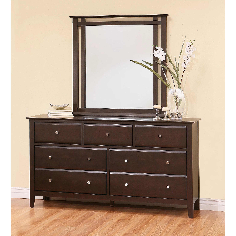 Latitude Run Kaitlin 7 Drawer Dresser with Mirror  Wayfair