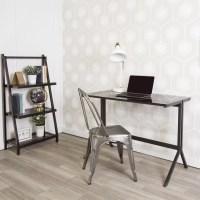 Latitude Run Lily Writing Desk and Shelf Combo | Wayfair